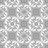 Black paisley pattern Stock Photography