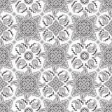 Black paisley pattern Stock Photography