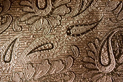 Black Paisley Silk Background Royalty Free Stock Photography