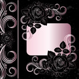 Black and pale pink flowers decoration Royalty Free Stock Images