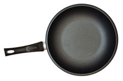 Black pan with handle Royalty Free Stock Image