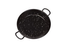 Black pan for spanish rice Royalty Free Stock Photo