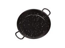 Black pan for spanish rice Royalty Free Stock Photo