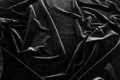 Black pan-velvet background. Stock Photos