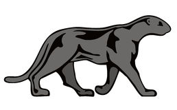 Black panther. Vector art of a Black panther  on the prowl Stock Photography