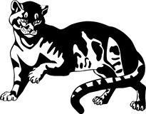 Black panther. Big cats. Vector illustration stock illustration
