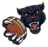 Black Panther American Football Mascot Royalty Free Stock Photos