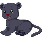 Black panther cartoon Royalty Free Stock Photos