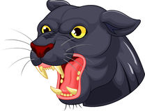 Black panther head mascot cartoon Royalty Free Stock Photo