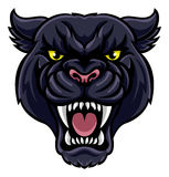 Black Panther Mascot. An angry looking black panther mascot animal character Royalty Free Stock Image