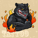 Black Panther Tattoo Design Royalty Free Stock Photography