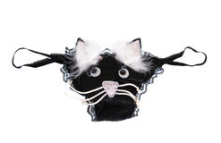 Black Panties with cat Stock Images
