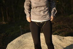 Black panties and leggings Royalty Free Stock Photos