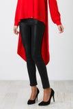 Black pants on white Royalty Free Stock Image