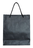 Black paper bag isolated on white Royalty Free Stock Image