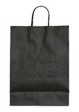 Black paper bag isolated on white Stock Photo