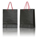 Black paper bag Stock Photos