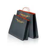 Black paper bags Stock Photo