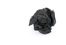 Black paper ball corrugate isolate Stock Images