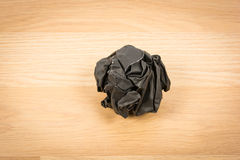 Black paper ball corrugate Royalty Free Stock Photos