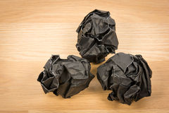 Black paper ball corrugate Royalty Free Stock Image
