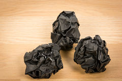 Black paper ball corrugate Stock Photography
