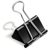 Black Paper Binder Clip. Illustration Stock Images