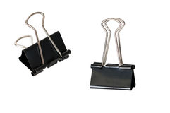 Black paper binder clip Stock Photo