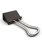 Black paper binder clip on white background Royalty Free Stock Images