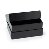 Black Paper Box isolated on white Royalty Free Stock Photo