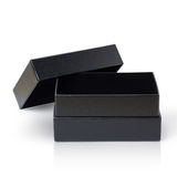 Black Paper Box isolated on white Stock Images