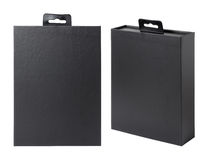 black paper box Stock Photography