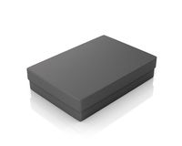 Black paper box Royalty Free Stock Photography