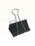 Black paper clip Royalty Free Stock Photos