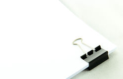 Black Paper clip isolated on white background. Royalty Free Stock Photos