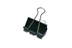Black paper clip Stock Photo