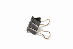 Black Paper clip isolated on white background Royalty Free Stock Photos