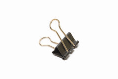 Black Paper clip isolated on white background Stock Photography