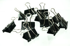 Black Paper clip isolated on white background 2 Royalty Free Stock Images