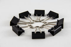 Black Paper Clip Stock Images