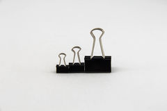 Black Paper Clip Royalty Free Stock Image