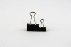 Black Paper Clip Royalty Free Stock Images