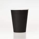 Black paper coffee cup  on white background Royalty Free Stock Photos
