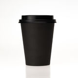 Black paper coffee cup  on white background Stock Image