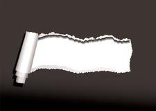 Black paper curl Stock Image