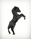 Black paper horse Royalty Free Stock Photography