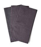 Black paper napkins Royalty Free Stock Photos
