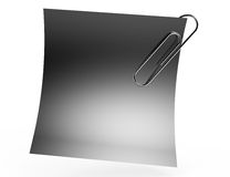 Black paper note with metal clip Stock Photos