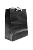 Black paper shopping bag Stock Images