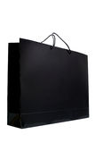 Black paper shopping bag Stock Photos